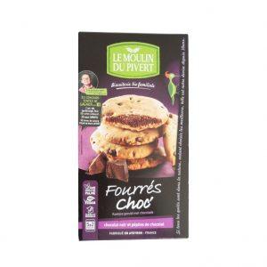 Cookies fourrés au chocolat du Moulin du Pivert