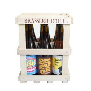 cagette de bière de la brasserie d'olt